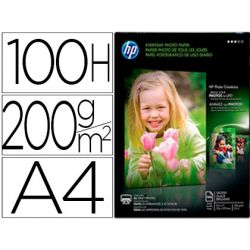 PAPEL HP PHOTO SEMI-GLOSSY 200G/M2 DIN A4 100H