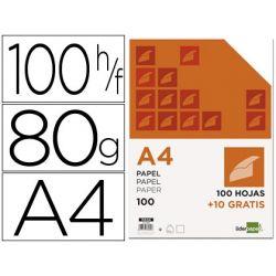 PAPEL LIDERPAPEL DIN-A4 80 GR -PAQUETE DE 100 HOJAS + 10 HOJAS GRATIS