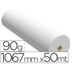 PAPEL REPROGRAFIA NAVIGATOR PARA PLOTTER QUALITY BOBINA 1067X50 MT 90 GRS IMPRESION LINEAS Y COLOR