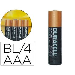 PILA DURACELL ALCALINA SIMPLY AAA BLISTER CON 4 PILAS
