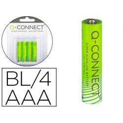 PILA Q-CONNECT ALCALINA AAA -BLISTER CON 4 PILAS