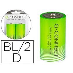 PILA Q-CONNECT ALCALINA D -BLISTER CON 2 PILAS