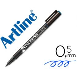 ROTULADOR ARTLINE PARA CD PUNTA DE FIBRA PERMANENTE EK-883 AZUL -PUNTA REDONDA 0.5 MM