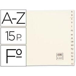 Indice alfabetico elba clasificador cartulina para archivador cuarto apaisado.