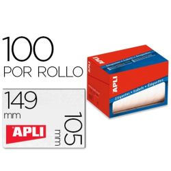 ETIQUETA ADHESIVA APLI 1706 TAMAŸO 105X149 MM EN ROLLO DE 100 UNIDADES
