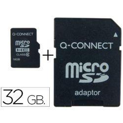 MEMORIA SD MICRO Q-CONNECT FLASH 32 GB CLASE 6 CON ADAPTADOR