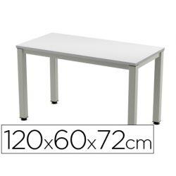 MESA DE OFICINA ROCADA EXECUTIVE 200AD02 ALUMINIO /GRIS 120X60 CM