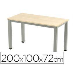 MESA DE OFICINA ROCADA EXECUTIVE 2005AD01 ALUMINIO /HAYA 200X100 CM