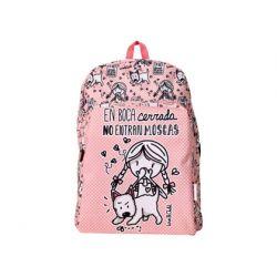 CARTERA ESCOLAR LOVE&CHILD MOCHILA ADAPTABLE A CARRO POLIESTER EN BOCA CERRADA NO ENTRAN MOSCAS COLO