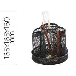 ORGANIZADOR SOBREMESA Q-CONNECT KF17294 METALICO GIRATORIO REJILLA NEGRA 165X165X160 MM