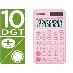 CALCULADORA CASIO SL-310UC-PK BOLSILLO 10 DIGITOS TAX +/- TECLA DOBLE CERO COLOR ROSA