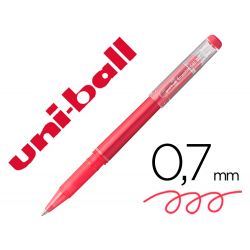 ROTULADOR UNI-BALL ROLLER UF-222 TINTA GEL BORRABLE 0,7 MM ROJO