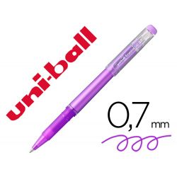 ROTULADOR UNI-BALL ROLLER UF-222 TINTA GEL BORRABLE 0,7 MM VIOLETA