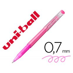 ROTULADOR UNI-BALL ROLLER UF-222 TINTA GEL BORRABLE 0,7 MM ROSA