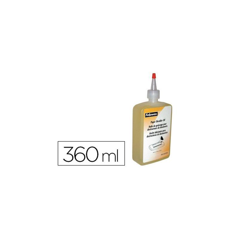 ACEITE LUBRICANTE FELLOWES PARA DESTRUCTORA DE DOCUMENTOS360 ML.