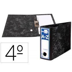 ARCHIVADOR DE PALANCA LIDERPAPEL CUARTO APAISADO CLASSIC BLUE SIN RADO LOMO 80MM NEGRO COMPRESOR MET