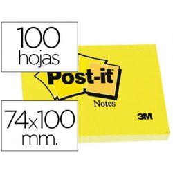 BLOC DE NOTAS ADHESIVAS QUITA Y PON POST-IT 74X100 MM CON 100 HOJAS -657-