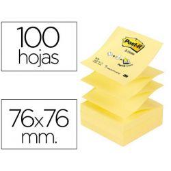 BLOC DE NOTAS ADHESIVAS QUITA Y PON POST-IT 76X76 MM Z-NOTES