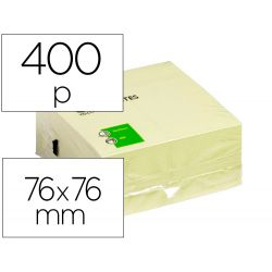 BLOC DE NOTAS ADHESIVAS QUITA Y PON Q-CONNECT 75X75 MM AMARILLO CON 400 HOJAS