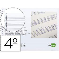 BLOC MUSICA LIDERPAPEL HEXAGRAMA 3MM CUARTO 20 HOJAS 100G/M2