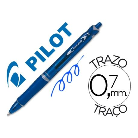 BOLIGRAFO PILOT ACROBALL AZUL TINTA ACEITE PUNTA DE BOLA DE 1,0MM RETRACTIL
