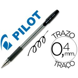 BOLIGRAFO PILOT BPS-GP NEGRO -SUJECION DE CAUCHO -TINTA BASE DE ACEITE -CON CAPUCHON