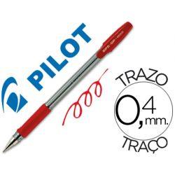 BOLIGRAFO PILOT BPS-GP ROJO -SUJECION DE CAUCHO -TINTA BASE DE ACEITE -CON CAPUCHON