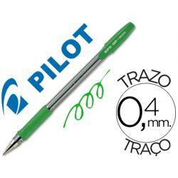 BOLIGRAFO PILOT BPS-GP VERDE -SUJECION DE CAUCHO -TINTA BASE DE ACEITE -CON CAPUCHON