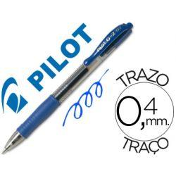 BOLIGRAFO PILOT G-2 AZUL TINTA GEL -RETRACTIL -SUJECION DE CAUCHO