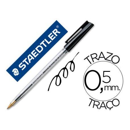 BOLIGRAFO STAEDTLER STICK NEGRO CON CAPUCHON