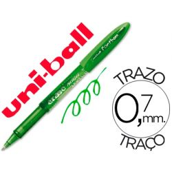 BOLIGRAFO UNI-BALL UF-202 FANTHOM BORRABLE 0,7 MM TINTA GEL VERDE