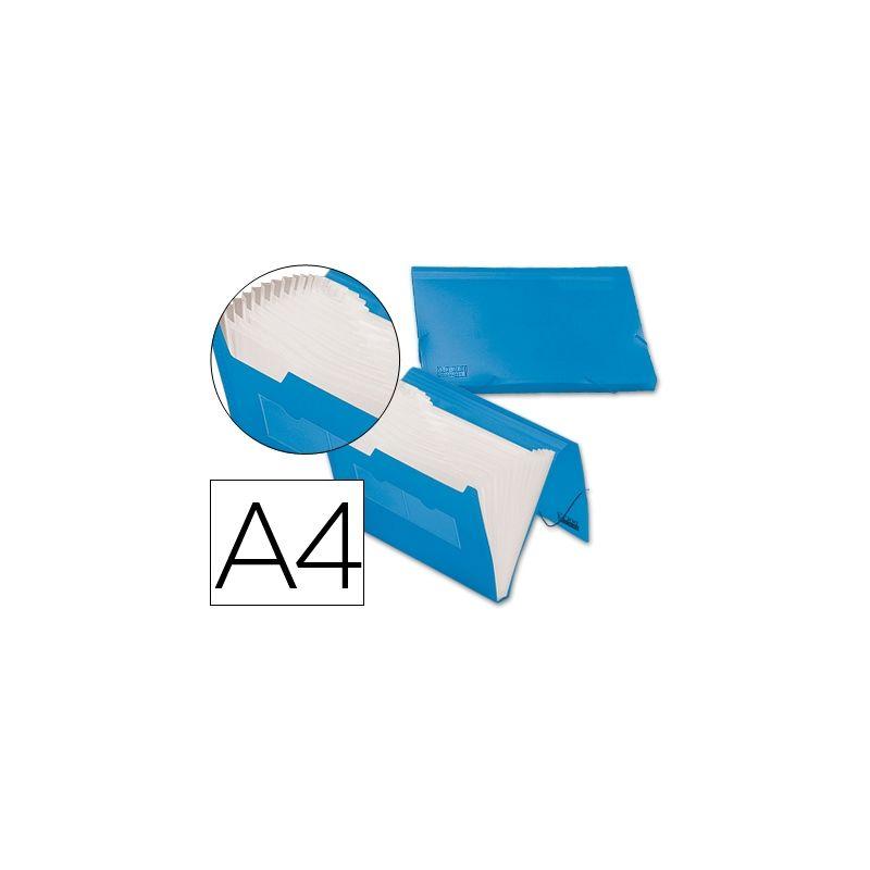 CARPETA LIDERPAPEL CLASIFICADOR FUELLE 32182 POLIPROPILENO DIN A4 AZUL SERIE FROSTY 13 DEPARTAMENTOS