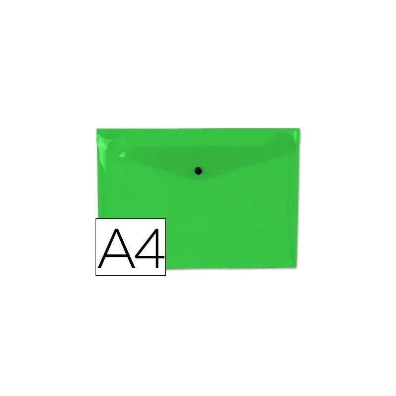CARPETA LIDERPAPEL DOSSIER BROCHE 44053 POLIPROPILENO DIN A4 VERDE CLARO TRANSPARENT-50 HOJAS