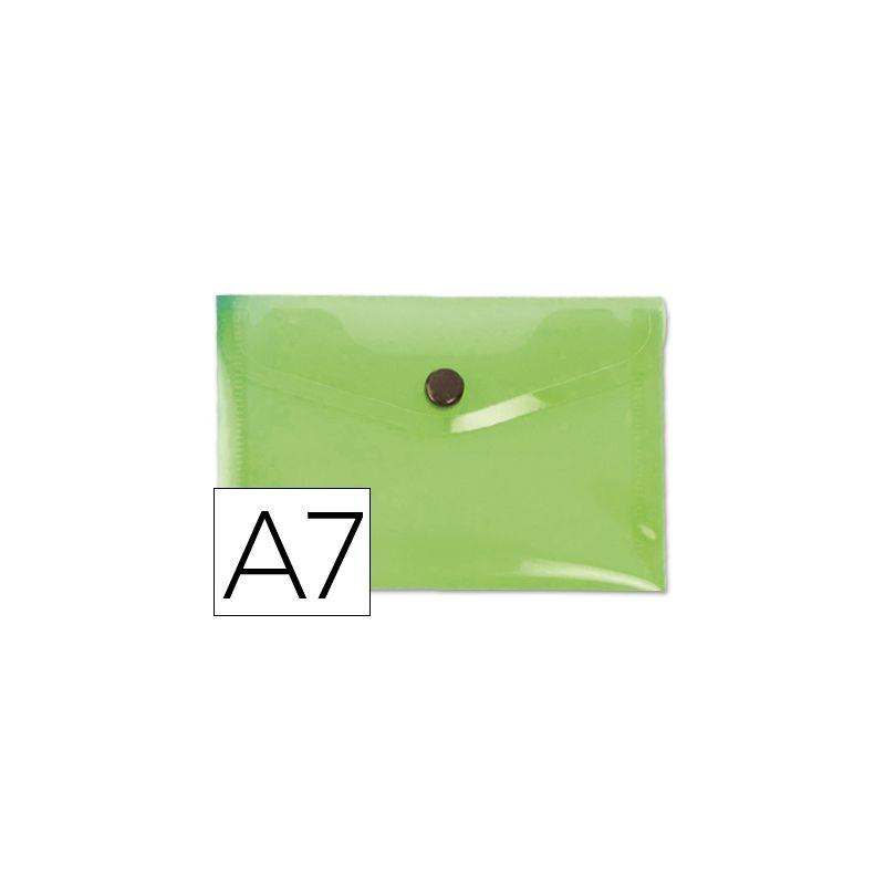 CARPETA LIDERPAPEL DOSSIER BROCHE 44223 POLIPROPILENO DIN A7 VERDE -SERIE FROSTY