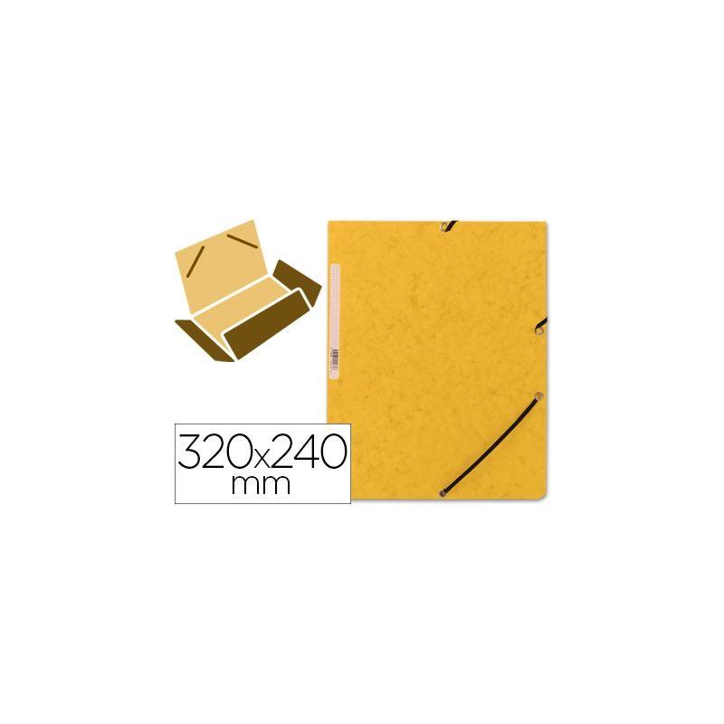 CARPETA Q-CONNECT GOMAS KF02166 CARTON SIMIL-PRESPAN SOLAPAS 320X243 MM AMARILLA