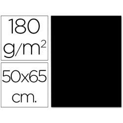 CARTULINA LIDERPAPEL 50X65 CM 180G/M2 NEGRO