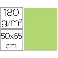 CARTULINA LIDERPAPEL 50X65 CM 180G/M2 VERDE HIERBA