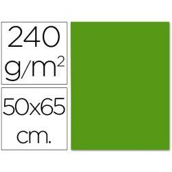 CARTULINA LIDERPAPEL 50X65 CM 240G/M2 VERDE NAVIDAD
