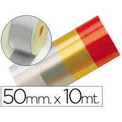 CINTA FANTASIA 10 MT X 50 MM PLATA