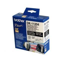 ETIQUETA ADHESIVA BROTHER DK11204 -TAMA¾O 17X54 MM PARA IMPRESORAS DE ETIQUETAS QL -400 ETIQUETAS-