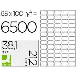 ETIQUETA ADHESIVA Q-CONNECT KF00573 -TAMA¾O 38,1X21,2 MM -FOTOCOPIADORA -LASER -INK-JET-CAJA CON 100