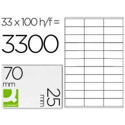 ETIQUETA ADHESIVA Q-CONNECT KF10640 TAMANO 70X25 MM FOTOCOPIADORA LASER INK.JET