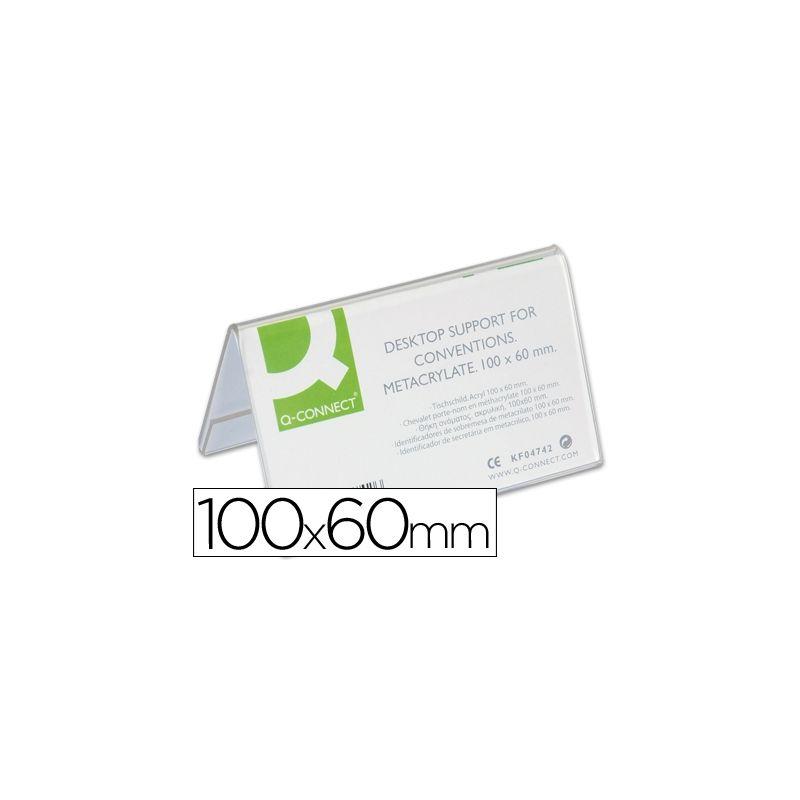 IDENTIFICADORES SOBREMESA Q-CONNECT METACRILATO TAMA¾O 100X60 MM REF.5729