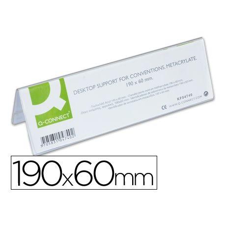 IDENTIFICADORES SOBREMESA Q-CONNECT METACRILATO TAMA¾O 190X60 MM REF.5727