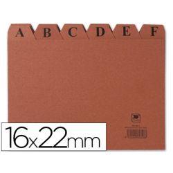 INDICE FICHERO CARTON -N. 5 -TAMA¾O 16X22