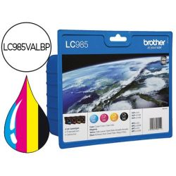 INK-JET BROTHER LC-985VAL 4 COLORES VALUE PACK NEGRO/CIAN/MAGENTA/AMARILLO DCP-J315W