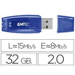 MEMORIA USB EMTEC FLASH C410 32 GB 2.0 AZUL