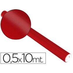 PAPEL METALIZADO ROJO ROLLO DE 0.5 X 10 MT