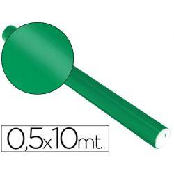PAPEL METALIZADO VERDE ROLLO DE 0.5 X 10 MT