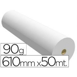 PAPEL REPROGRAFIA -PARA PLOTTER PLUS -BOBINA 610X50 M. 90 GRS. PARAIMPRE. DE LINEAS Y AREAS COLOR
